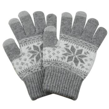 Πλεκτά γάντια με σχέδιο για...